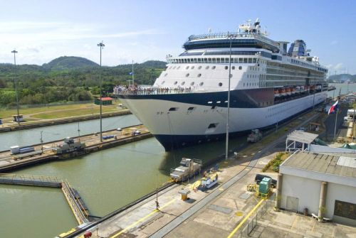 Ship Enters Panama Canal