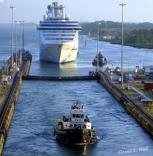 Ship in Panama Canal