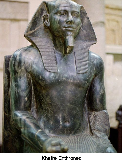Khafre enthroned