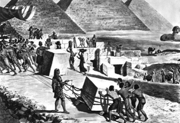 Egyptian Pyramid building