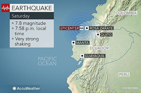 Equador Earthquake -1