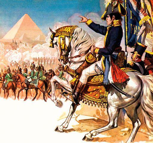 Napolean near Pyramid