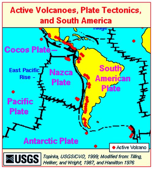 South American Earthquake Zones