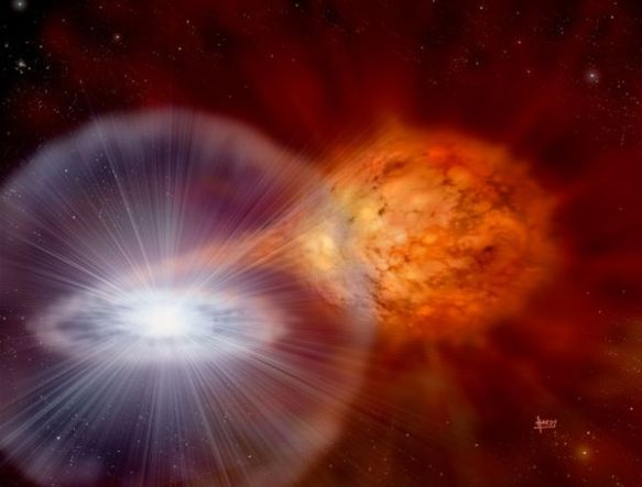 Exploding white dwarf star