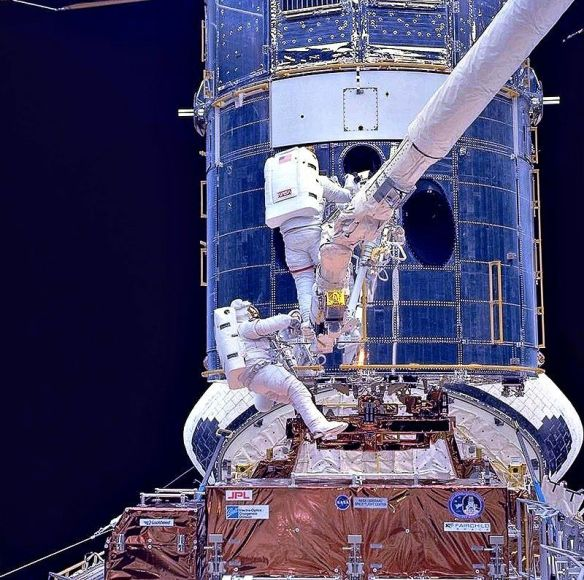 Hubble Modification done from Space Shuttle
