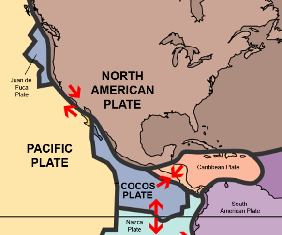Image result for North American and Pacific Tectonic Plates